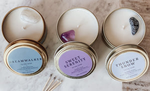 Intention Crystal Candle Bundle