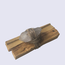 Load image into Gallery viewer, Clear Quartz Palo Santo Bundle