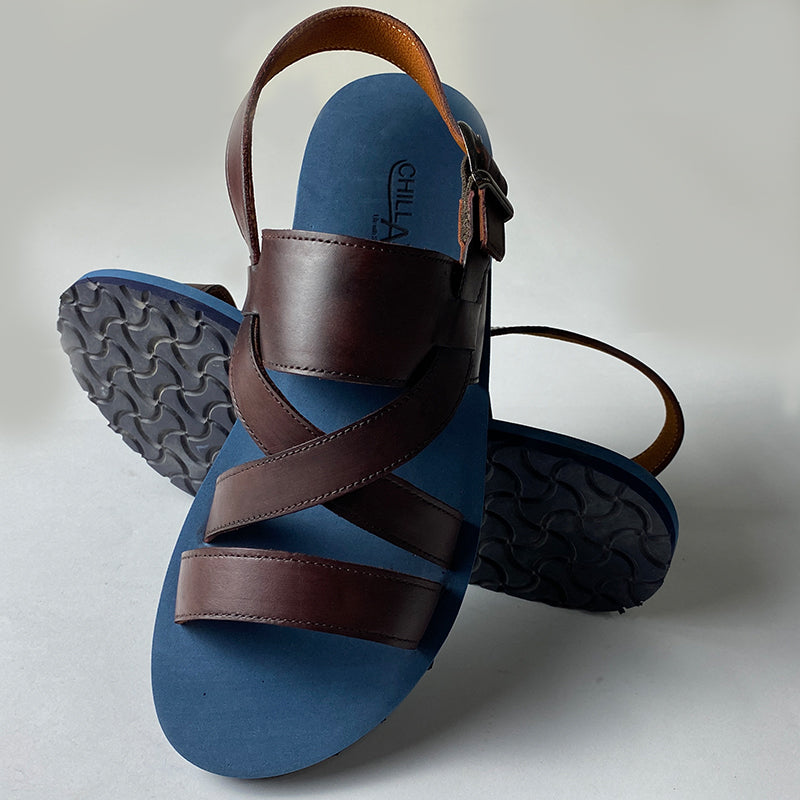 Traditional Blue Flat Sandals
