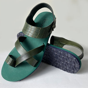 Traditional Green Flat Sandals
