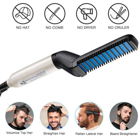 Beard and Hair Straightner and Comb