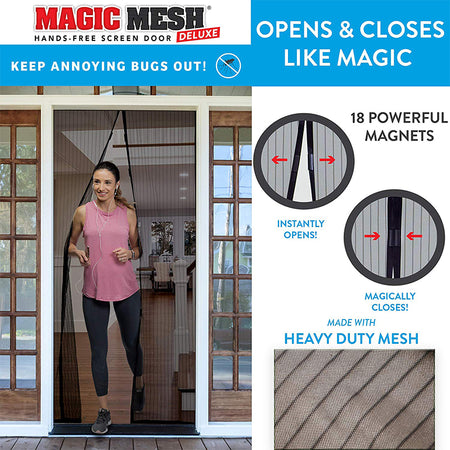 Magic Mesh Magnetic Screen For Doors