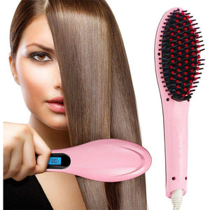 Fast Hair Straightener Brush With Temperature Control