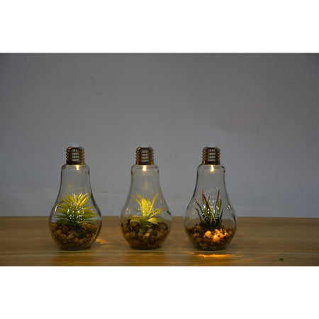 LED Bulb With Artificial Plants