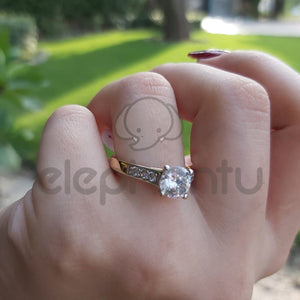 Cushion Royal Stone Ring for Girls-650020s