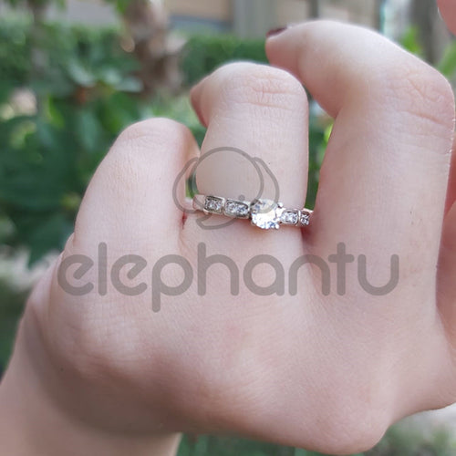 Mini Shine Ring Sterling Silver- For Girls-650012