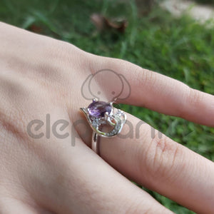 Luxury Purple Ring For Girls-650015