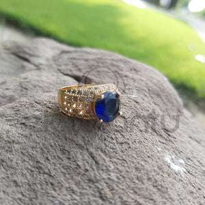 Premium Blue Sapphire Rings for Women-650017B