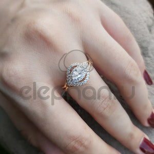 Rare Crystal White Ring For Girls-650030