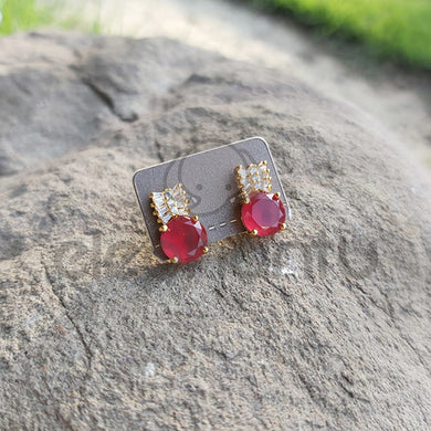 Red mini elephant earrings -640018
