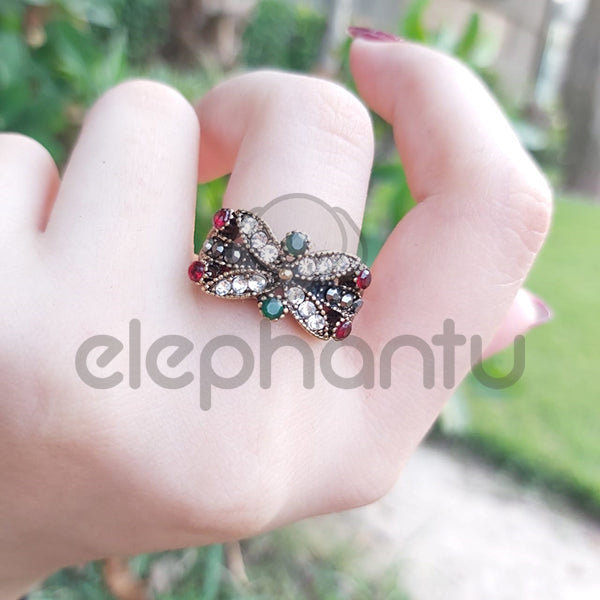Extraordinary Colorful Stones Fashion Turkish Ring-1050018