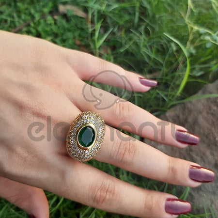 Large Vintage Amethyst Ring Sterling For Women-650025