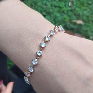 Delicate and Precious Stone Bracelet For Girls -Golden-660027