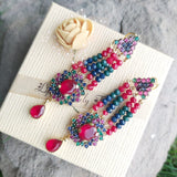 Elegant Trendy Inlay Crystal Rhinestone Flower Shaped Earrings