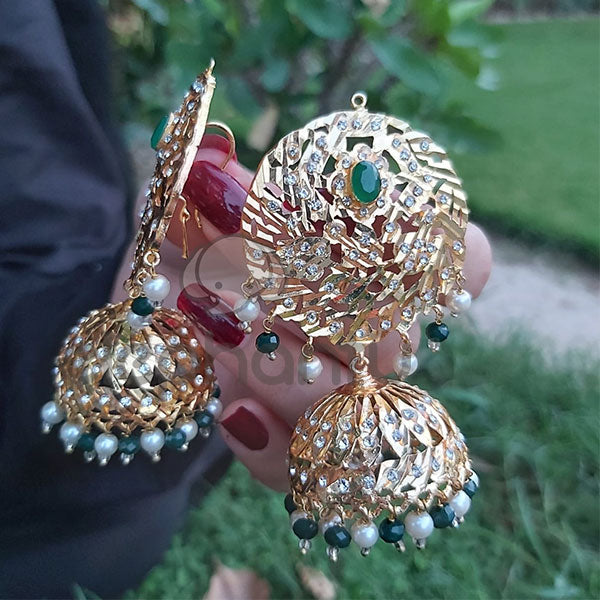 Unique Lightweight Designer Jhumka Earrings-540040