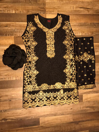 3 Piece Heavy Embroidery Suit