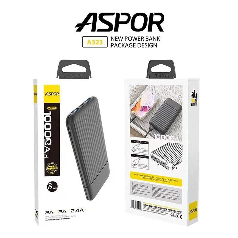 Aspor A323 Power Bank 10000mAh