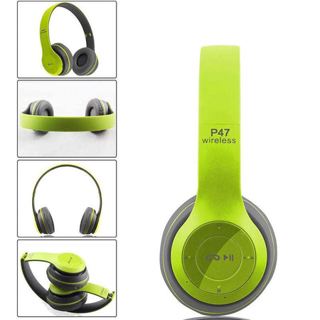 P47 Ear Bluetooth Wireless Folding And Stereo Headphone