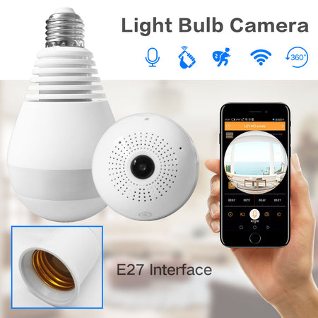 Wireless IP Hidden Panoramic Camera HD Light Bulb