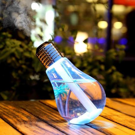 Ultrasonic Bulb Humidifier With Colorful Lights