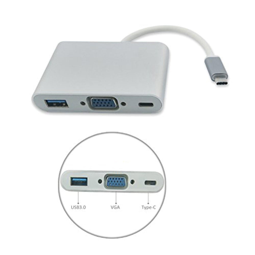 Type C 3.1 To VGA+OTG C+USB 3.0
