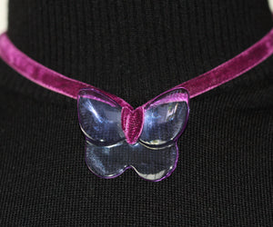 Baccarat Crystal Butterfly Necklace