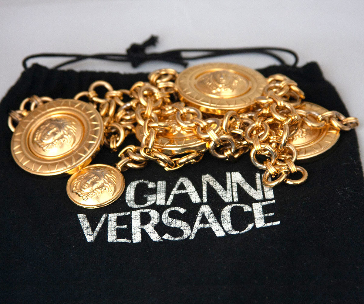 Vintage Gianni Versace │Medusa Coin Medallion Chain Belt