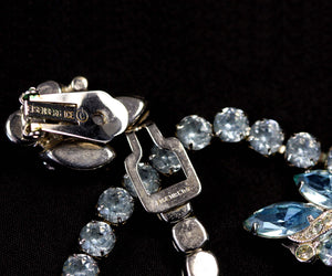 Vintage Signed Eisenberg Ice, Necklace with Matching Earrings