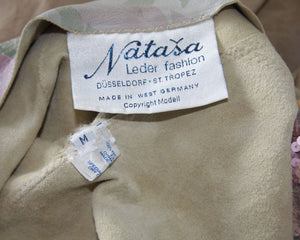 "80's Vintage Natasa, 100% Natural Leather Dress ""Limited Addition"""
