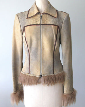 Roberto Cavalli, Leather Suede Jacket
