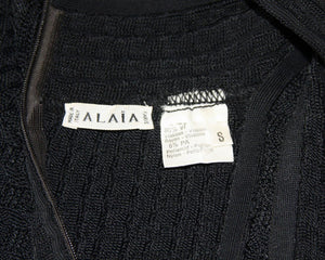 Vintage Azzedine Alaia, Black Sleeveless Cocktail Dress