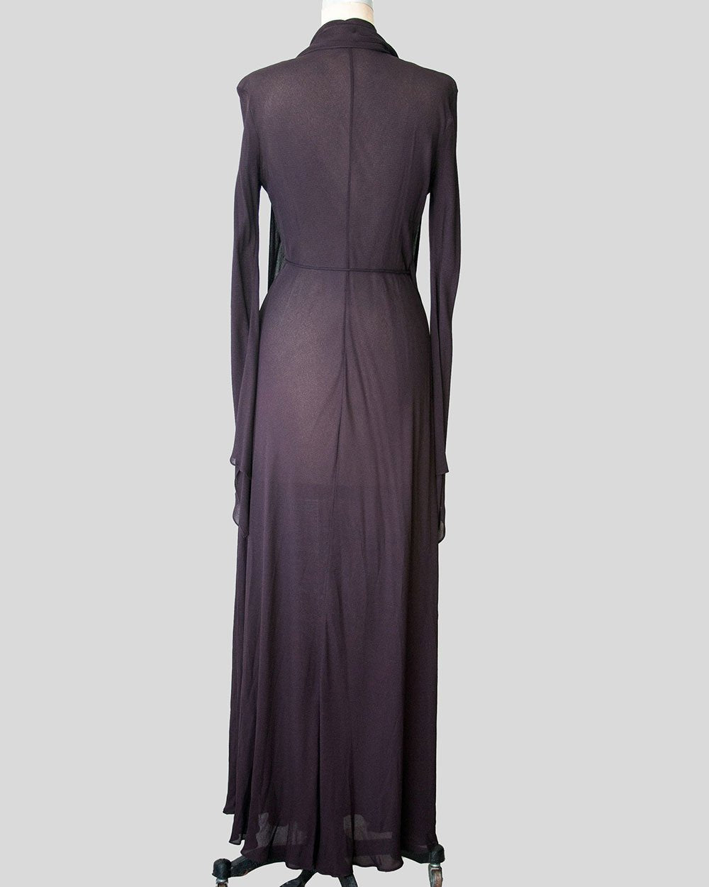 Vintage Donna Karan, Floor Length Long Sleeve Wrap Dress