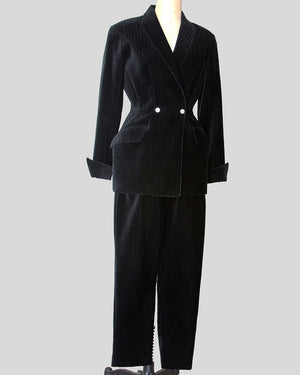 Vintage Thierry Mugler, Pinstripe Double Breasted Pants Suit