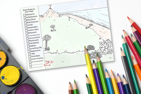 Dinosaur Imagination Drawing Pad