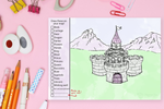 Fantasy Castle Imagination Drawing Pad