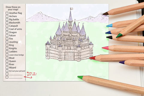 Medieval Castle Imagination Drawing Pad
