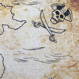 Pirate Map Imagination Drawing Pad