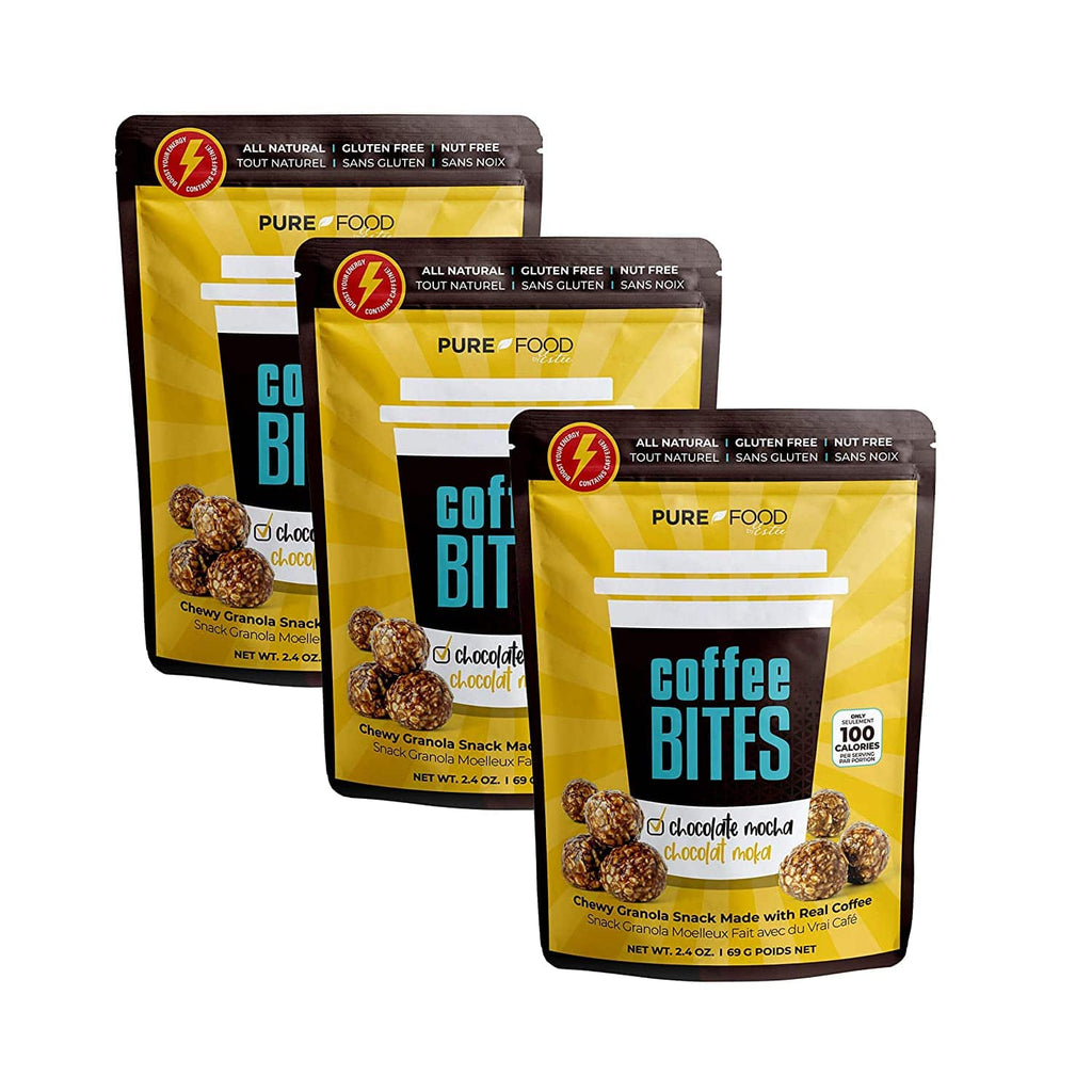 3 Pack Chocolate Mocha Coffee Bites - 2.4 OZ - Pure Food by Estee