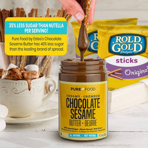 2 Pack Chocolate Sesame Butter + 4 Bags of Pretzels - Pure Food by Estee
