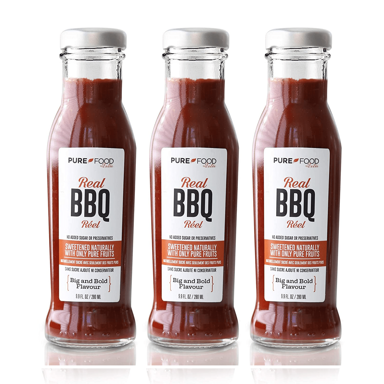 3 Pack - Real BBQ Sauce - Pure Food by Estee