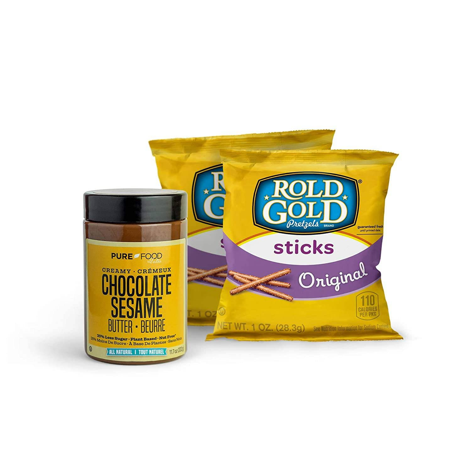 PR Chocolate Sesame Butter + Pretzel Dip Set - Pure Food by Estee