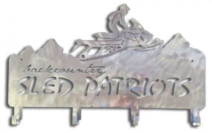 Backcountry Sled Patriots Metal artwork with hooks