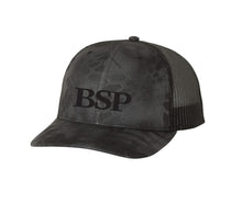 Load image into Gallery viewer, Backcountry Sled Patriots 112 Richardson Snap Back Trucker Cap Kryptek Typhon/Charcoal