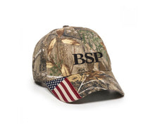Load image into Gallery viewer, Backcountry Sled Patriots Outdoor Camp Cap with American Flag