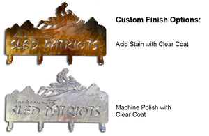 Backcountry Sled Patriots Metal artwork finish options