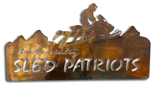 Backcountry Sled Patriots Metal artwork