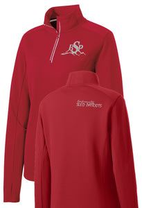 Ladies Sport-Wick Textured 1/2-Zip Pullover