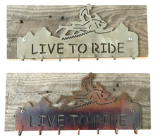 Load image into Gallery viewer, Backcountry Sled Patriots Metal artwork Key Hanger