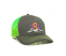 Load image into Gallery viewer, Backcoutry Sled Partiots neon cap with full color logo