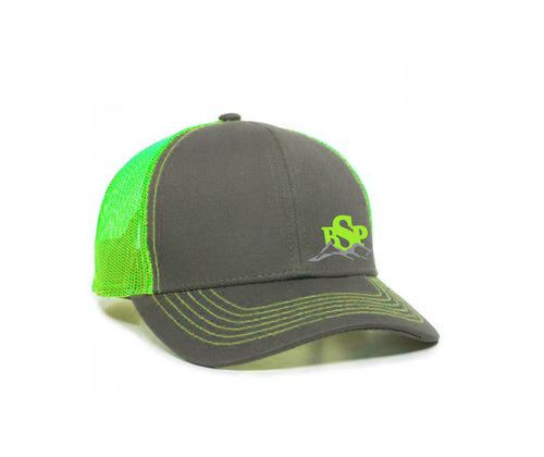 Backcoutry Sled Partiots neon cap with logo on side